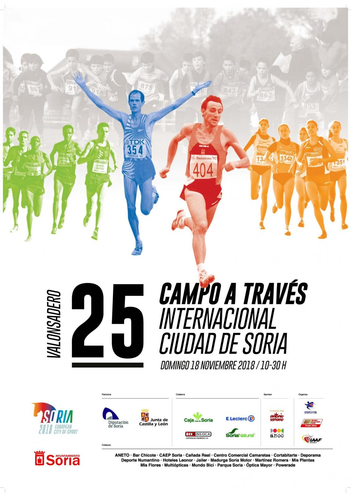cartel XXV CAMPO A TRAVES INTERNACIONAL DE SORIA